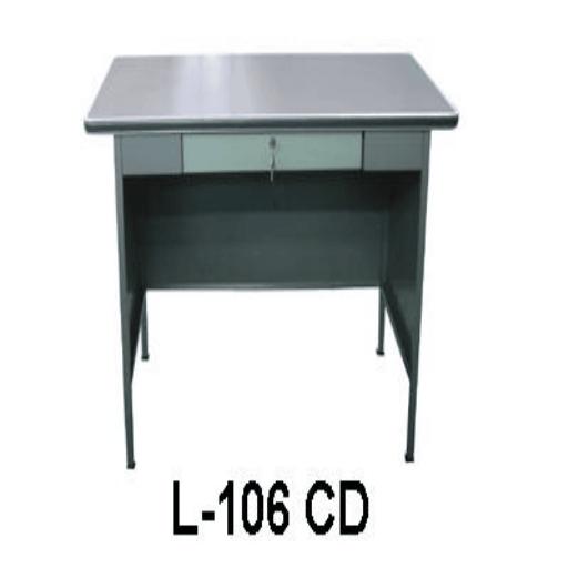 Jual Meja Kantor Besi Berikut Laci type L-106 CD Murah Di Surabaya