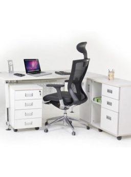 Meja Kantor Aditech FR 07 + Laci dorong